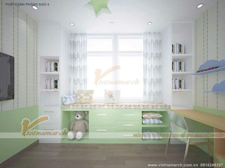 Thiết kế nội thất phòng ngủ con nhà lô phố hiện đại 4 tầng tại Thái Bình