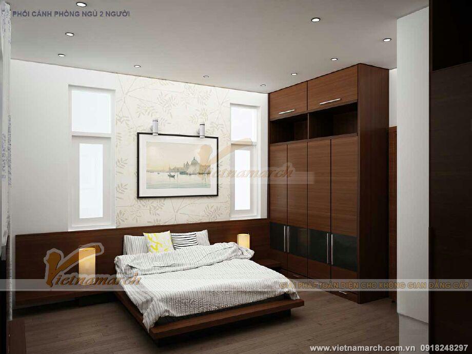 Thiết kế nội thất phòng ngủ master nhà lô phố hiện đại 4 tầng tại Thái Bình