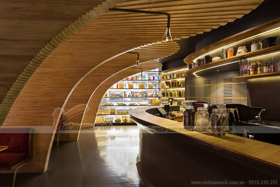 Thiết kế nội thất nhà hàng CRAFT độc đáo với ý tưởng gỗ cánh quạt