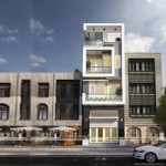Phương án kiến trúc và nội thất nhà lô phố 4 tầng hiện đại – Nhà chị Hoa-Long Biên, Hà Nội
