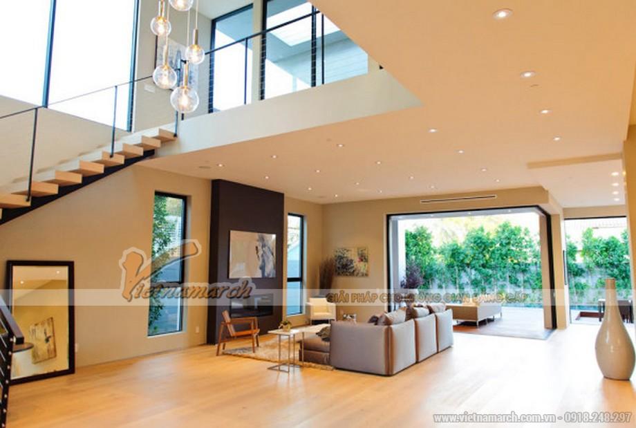 Phòng khách rộng, hiện đại và có xu hướng mở