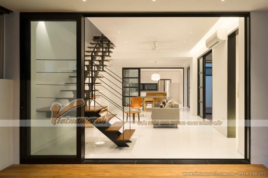 Thiết kế nội thất nhẹ nhàng thanh thoát để tạo không gian thông thoáng.