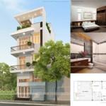 Thiết kế nhà phố hiện đại 4 tầng – chị Nhung – Thái Bình