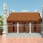 """Thiết kế nhà thờ dòng họ nhà Bác Lương tại Hà Nam mẫu nhà thờ mặt bằng chữ """"Đinh"""""""