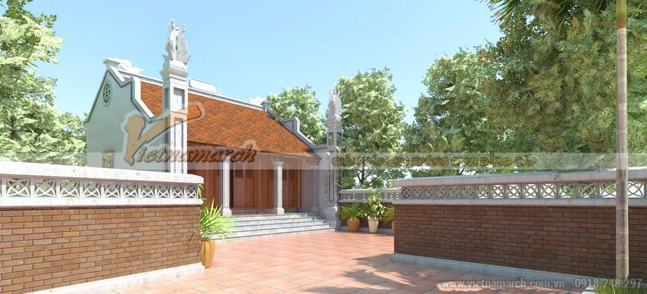 Thiết kế nhà thờ họ của gia đình bác Lương tại Hà Nam với địa thế đất vuông vắn hợp phong thủy