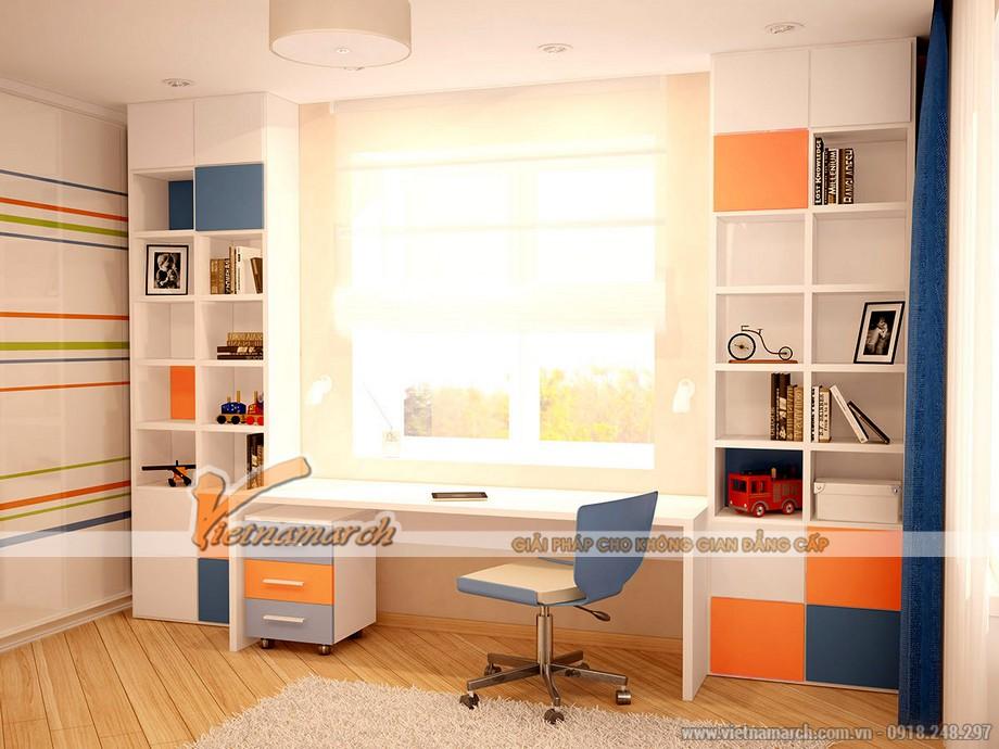 thiết kế phòng ngủ đa sắc màu cho bé tại căn họ 04 park 8