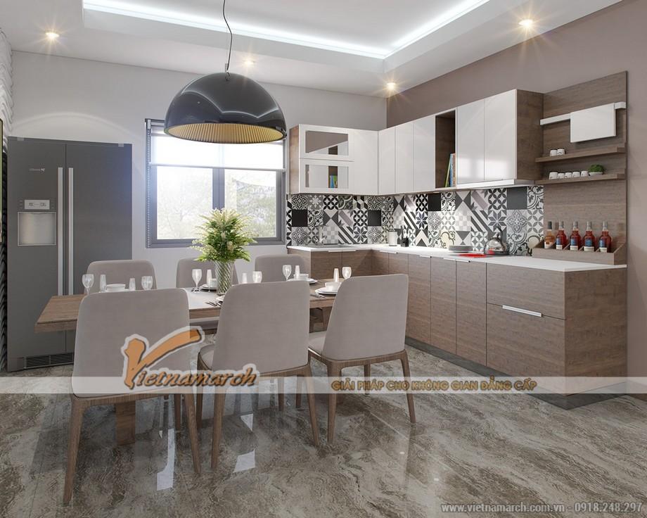 thiết kế gọn gàng tiết kiệm không gian bên trong khu bếp