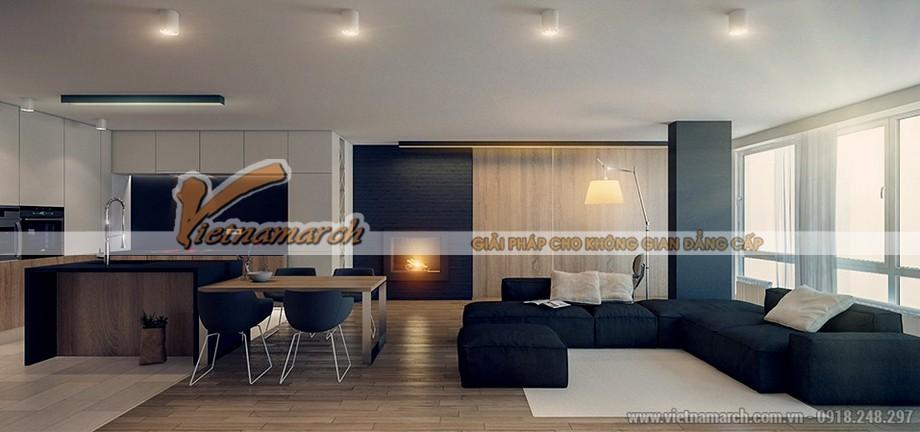 thiết kế nội thất với tông màu lạnh căn hộ Park Hill Time City 04