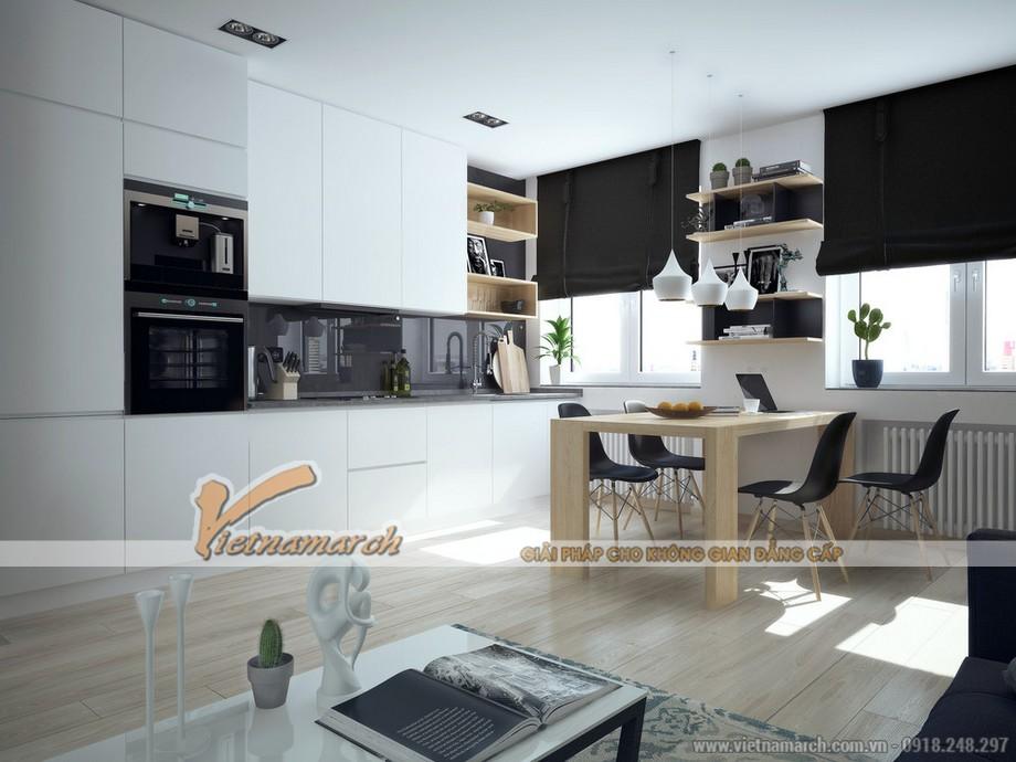 thiết kế nội thất hài hòa đón sáng cho phòng bếp