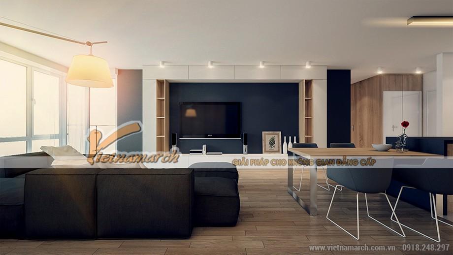 thiết kế không gian mở cho căn hộ 04 park 8 chung cư Park Hill Times City