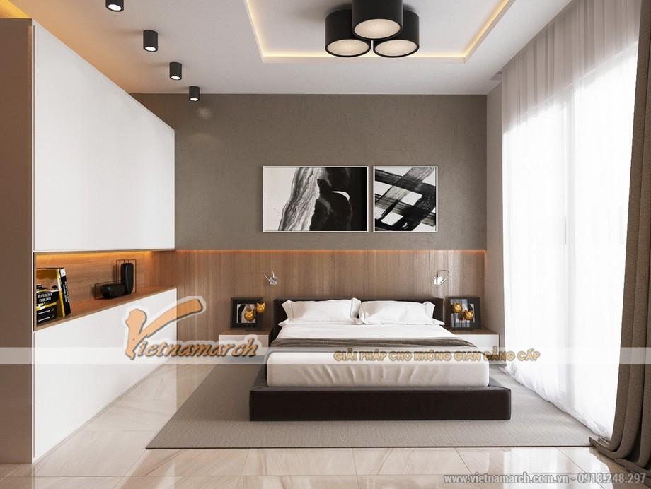 thiết kế phòng ngủ hài hòa và hiện đại bên trong căn hộ Park Hill Times City