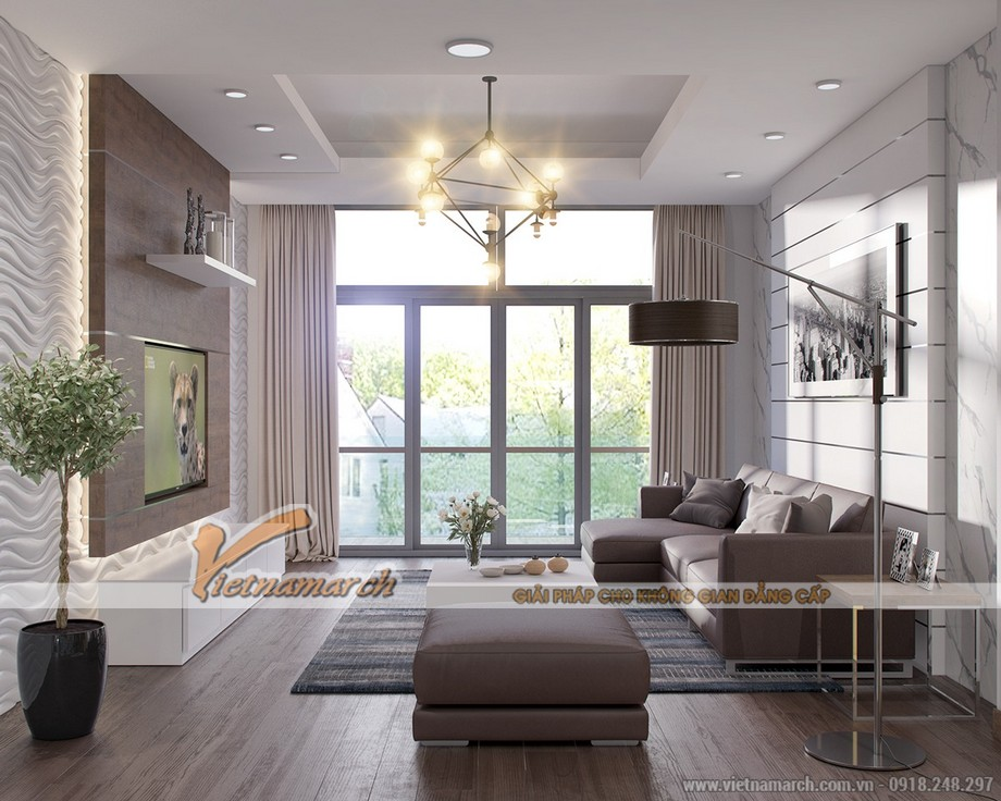 thiết kế phòng khách tận dụng ánh sáng tự nhiên và ánh sáng nhân tạo