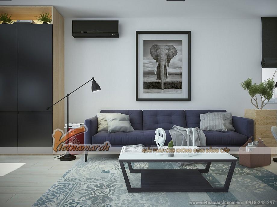 thiết kế sofa hiện đại làm điểm nhấn cho căn phòng