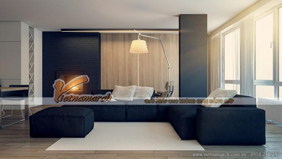 không gian mang phong cách Minimalism của căn hộ 04 park 8