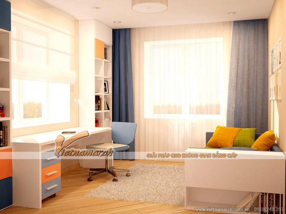 thiết kế không gian đón nhiều ánh sáng cho bé của căn hộ 04 park 8