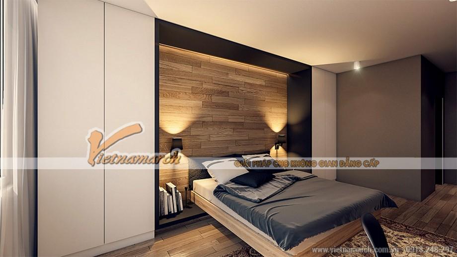 thiết kế tiết kiệm không gian phòng ngủ của căn hộ 04 park 8