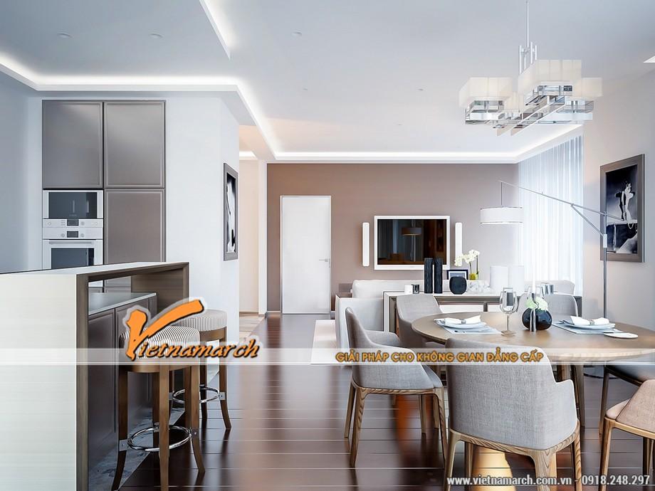Thiết kế nội thất phòng bếp nhà ăn căn hộ 08 Park 6 chung cư Park Hill Times City