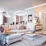 Thiết kế nội thất căn hộ 08 Park 6 Times City Park Hill siêu đẹp với gam màu sáng