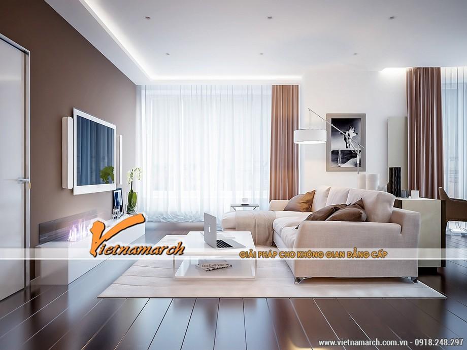 thiết kế nội thất chung cư Park Hill Times City gam màu trung tính