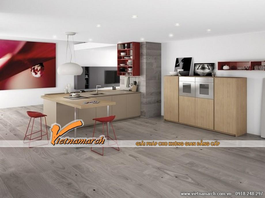 Thiết kế nội thất phòng bếp nổi bật nhất là hệ tủ bếp cao cấp