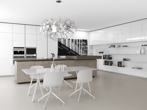 Nhà bếp với nội thất màu sắc sáng sẽ giúp căn bếp được thông thoáng hơn