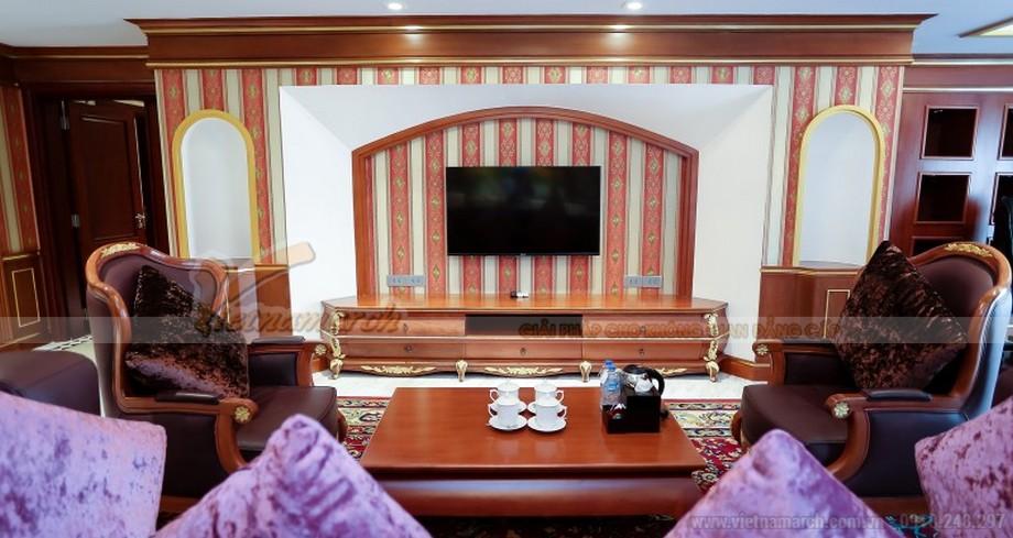 Nội thất cao cấp ấn tượng trong phòng tổng thống
