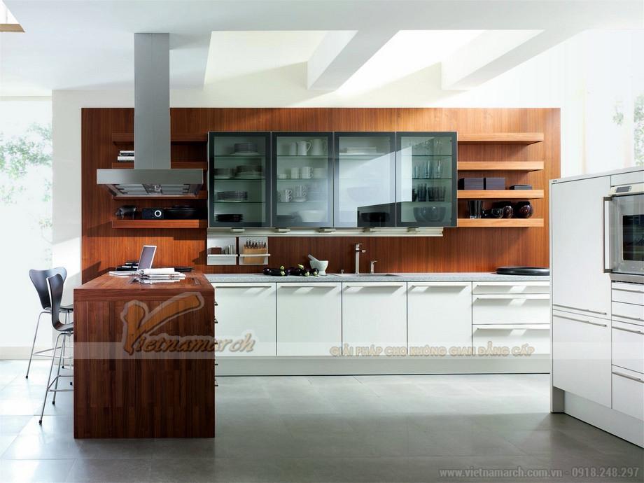 Tủ bếp cao cấp SieMatic được kết hợp nội thất gỗ