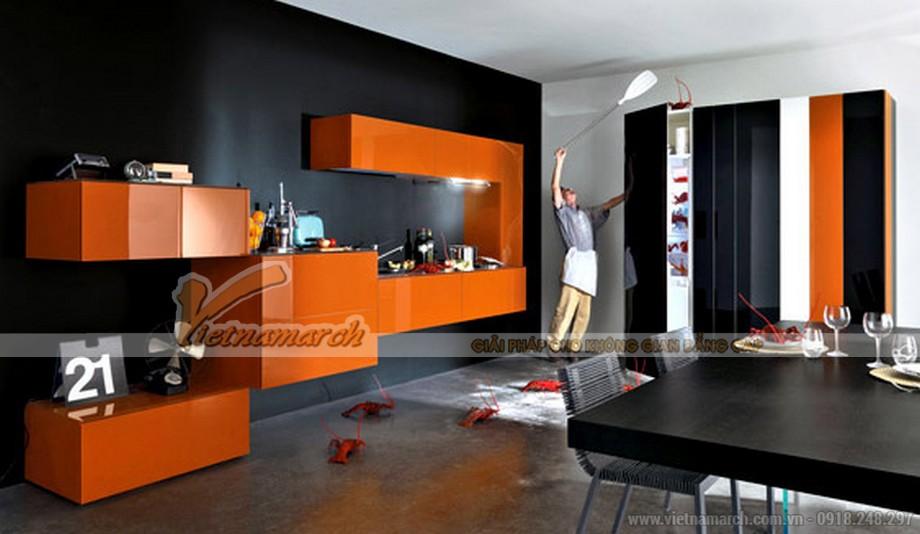 Tủ bếp với thiết kế độc đáo