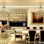 Những mẫu trần thạch cao cổ điển phòng bếp khẳng định vẻ đẹp kiêu sa tại căn hộ Time City 2016