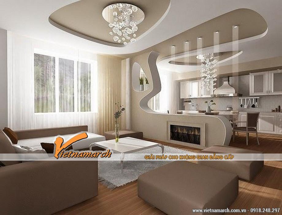 5 mẫu trần thạch cao hiện đại cho phòng khách nhỏ siêu đẹp 2016 04