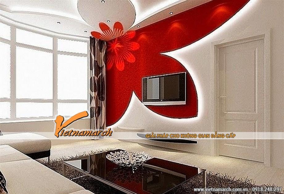 5 mẫu trần thạch cao hiện đại cho phòng khách nhỏ siêu đẹp 2016 01