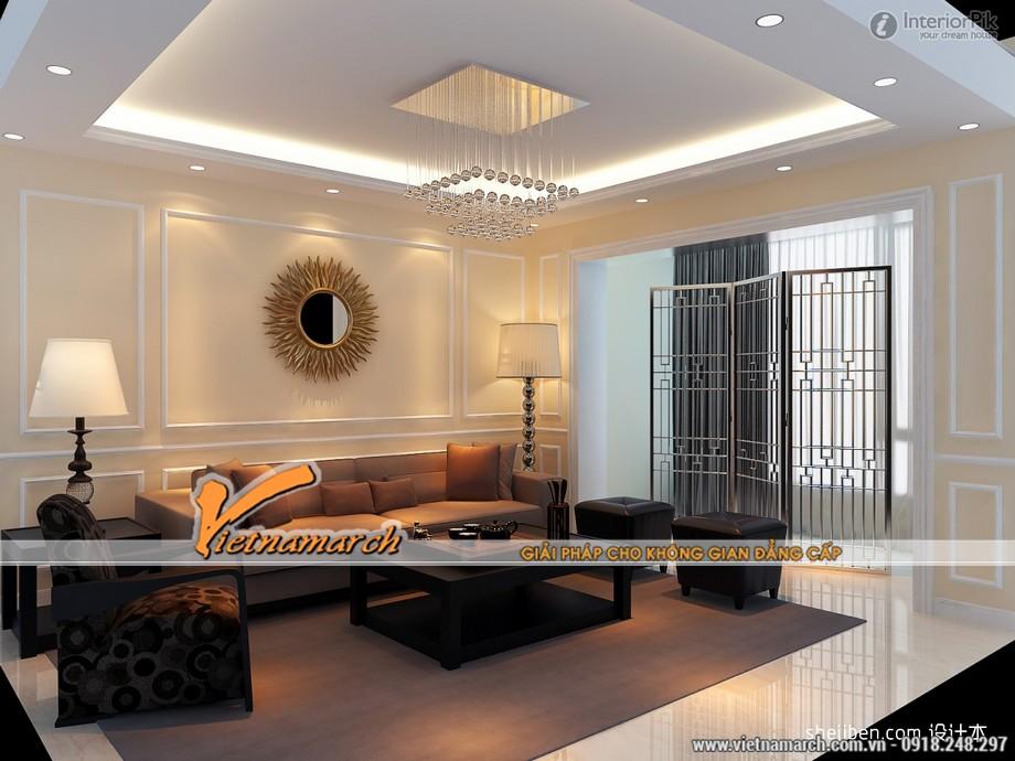 5 mẫu trần thạch cao hiện đại cho phòng khách nhỏ siêu đẹp 2016 05