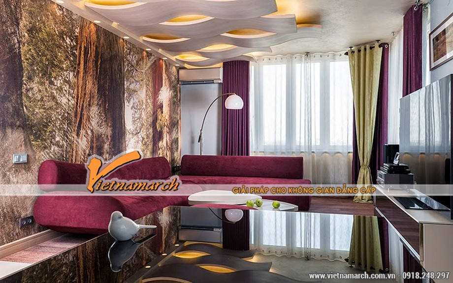 5 mẫu trần thạch cao hiện đại cho phòng khách nhỏ siêu đẹp 2016 02