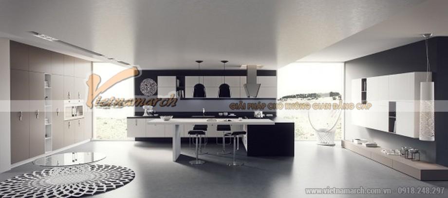 Thiết kế mẫu trần thạch cao hiện đại vô cùng phong cách cho căn hộ của anh Sĩ- Bắc Giang-06