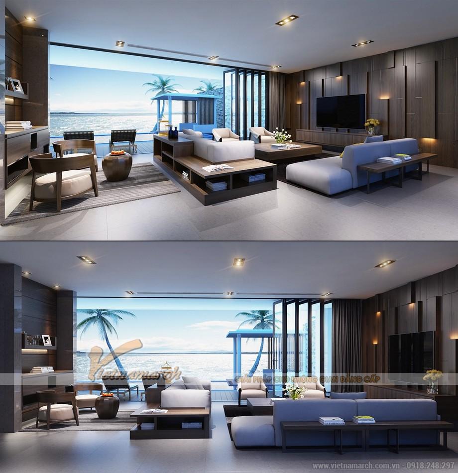 Thiết kế mẫu trần thạch cao hiện đại vô cùng phong cách cho căn hộ của anh Sĩ- Bắc Giang-01