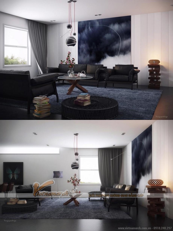 Thiết kế mẫu trần thạch cao hiện đại cho nhà anh Hưng- Phú Thọ-01