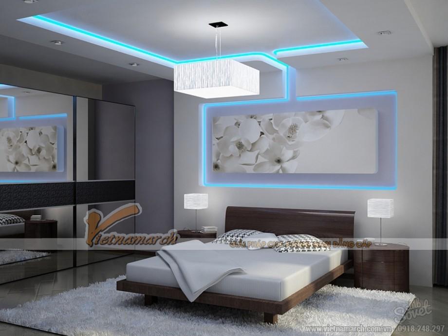 Thiết kế mẫu trần thạch cao đẹp lung linh cho nhà anh Toàn- Hưng Yên-02