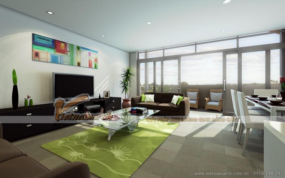 Chiêm ngưỡng mẫu trần thạch cao phẳng cho phòng khách tại chung cư Times City - 06