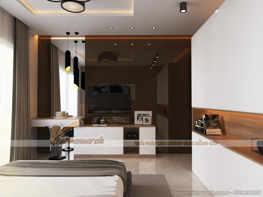 Thiết kế mẫu trần thạch cao hiện đại cho nhà anh Hưng- Phú Thọ-03
