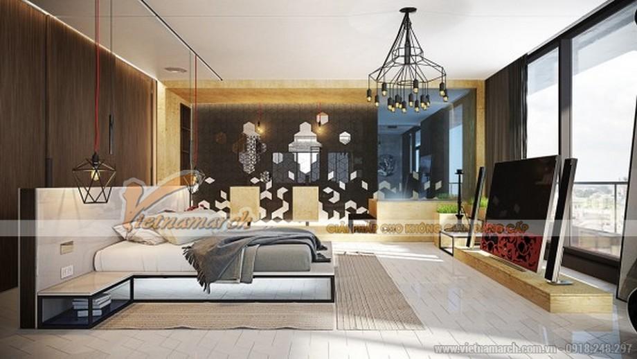 Thiết kế mẫu trần thạch cao hiện đại vô cùng phong cách cho căn hộ của anh Sĩ- Bắc Giang-04