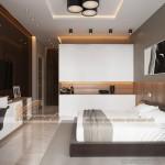 Thiết kế mẫu trần thạch cao hiện đại cho nhà anh Hưng- Phú Thọ