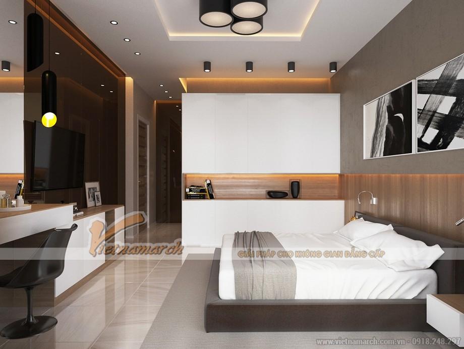 Thiết kế mẫu trần thạch cao hiện đại cho nhà anh Hưng- Phú Thọ-04