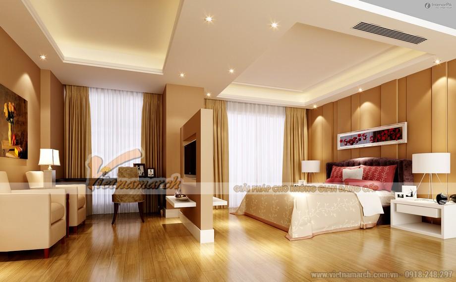 Thiết kế mẫu trần thạch cao đẹp lung linh cho nhà anh Toàn- Hưng Yên-03