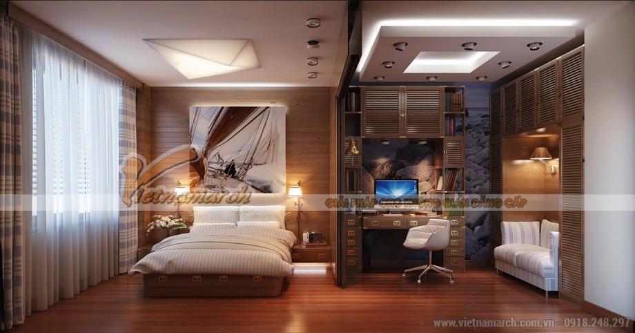 Thiết kế trần thạch cao hiện đại cho nhà bác Năm- Nghệ An-03