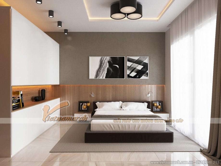 Thiết kế mẫu trần thạch cao hiện đại cho nhà anh Hưng- Phú Thọ-05