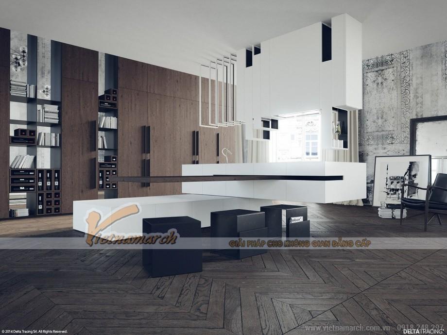 Thiết kế trần thạch cao hiện đại cho nhà bác Năm- Nghệ An-05