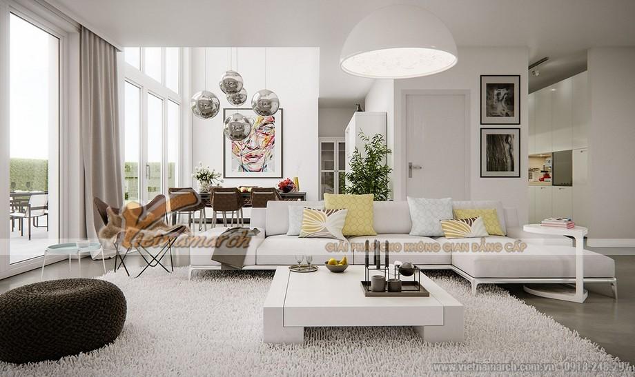 Thiết kế mẫu trần thạch cao hiện đại tuyệt đẹp cho căn hộ cao cấp của anh Tú- Thái Bình-02