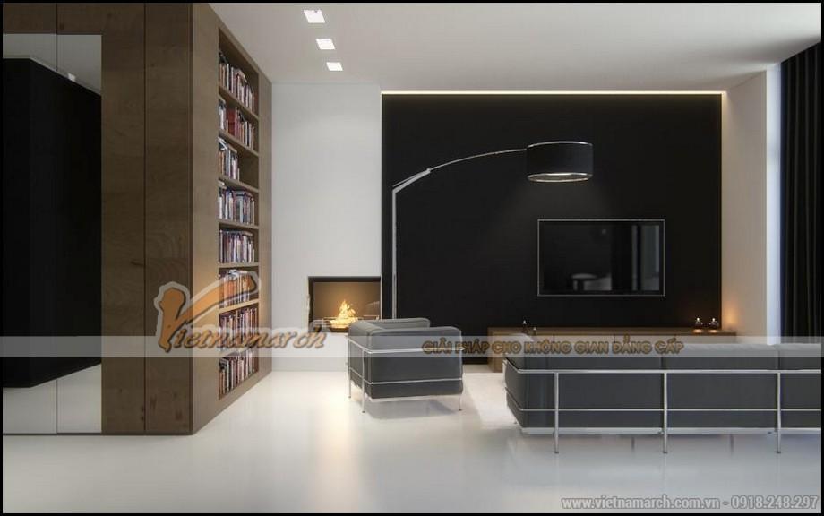 Chiêm ngưỡng mẫu trần thạch cao phẳng cho phòng khách tại chung cư Times City - 03