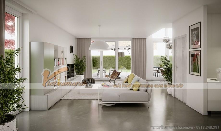 Thiết kế mẫu trần thạch cao hiện đại tuyệt đẹp cho căn hộ cao cấp của anh Tú- Thái Bình-01
