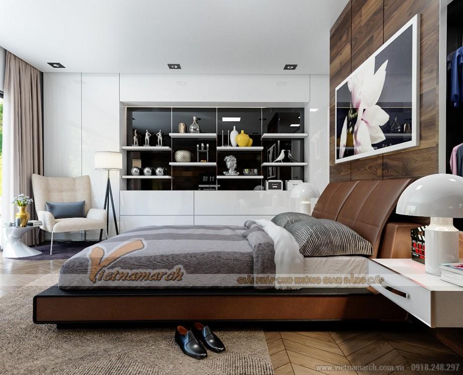 Thiết kế mẫu trần thạch cao hiện đại tuyệt đẹp cho căn hộ cao cấp của anh Tú- Thái Bình-04